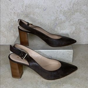 M. Gemi |The Calamo Gray Leather Slingback Heel 5